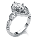 Picture of Art Deco style halo engagement ring for Marquise diamonds