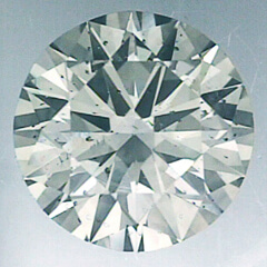 Picture of 0.55 Carats, Round natural Diamond with Ideal-Cut, F Color,VS2 Clarity and Certified By CGL