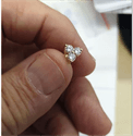 Picture of Three common prongs diamond cluster earrings, 0.58 carats