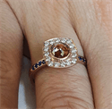 Picture of One of a kind alternative  engagement ring with Rose cut natural diamond, 1.05 carats