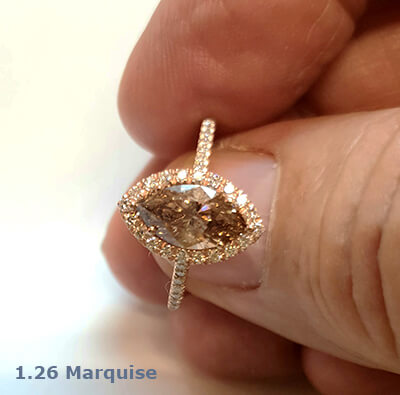 Delicate halo for Marquise,1.5 mm band