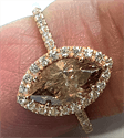 Picture of Marquise ring with side diamonds,1.50 carat total