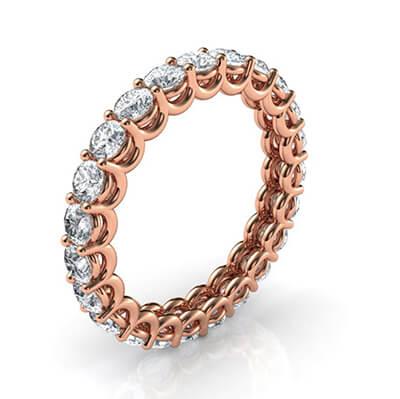 The waves eternity diamond band, 1.80 carats