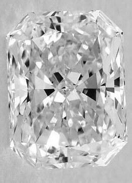 Picture of 1.05 Carat, Radiant natural Diamond with  Ideal-Cut, D Color, SI2 Clarity and Certified by CGL