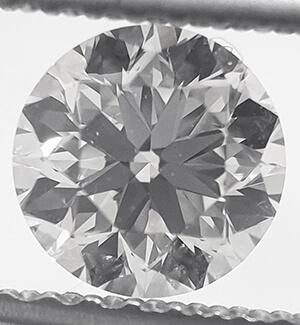 Foto 0.72 quilates, diamante redondo con corte ideal, F VS1, certificado por EGL de