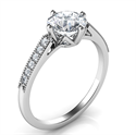 Picture of Delicate band engagement ring-Sandra
