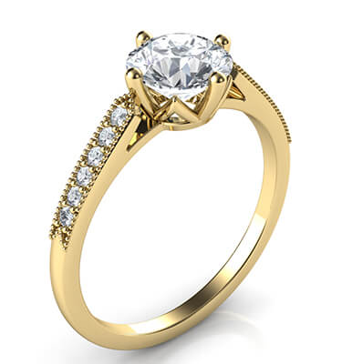 Delicate band engagement ring-Sandra
