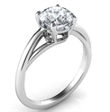 Picture of Solitaire engagement ring with a twist, Margaret