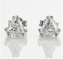 Foto Pendientes de diamantes TW Triangle de 1,33 quilates de