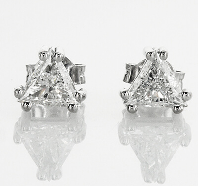 Pendientes de diamantes TW Triangle de 1,33 quilates