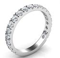 Foto Open Pave 3/4 anillo de bodas diamantes forma. de