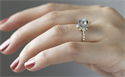 Picture of South seas black Pearl engagementr ring