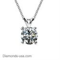 Picture of 0.53 carat natural diamond F SI1 Solitaire Pendant