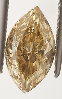 Picture of 1.00 Carats, Marquise Diamond, Rare Fancy Honey/Gold Color, VS2 Clarity and Certified By CGL