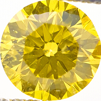 Picture of 0.9 Carats, Round Diamond with Ideal Cut,Vivid Yellow Color, SI1