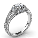 Picture of Vintage engagement ring for Rounds, rounds Ovals Princess and Cushions