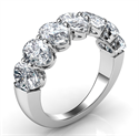 Picture of 7 natural Oval diamonds  ring, 0.40 carats each