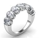Foto 7 anillos de diamantes ovalados naturales, 0.40 quilates cada uno de