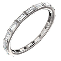 Picture of 2 mm, 1 carat Baguettes natural diamonds eternity band