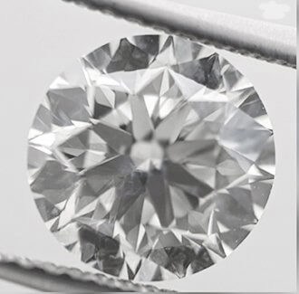 Picture of 2.08 carat Round natural diamond I VS2, Ideal- cut and certified by CGL