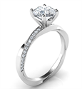 Picture of Twisting ring model, with side diamonds 0.13 carat