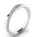 Foto Anillo de boda retorcido con diamantes de