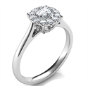 Picture of Engagement ring settings for smaller diamonds, 0.20 to 0.60 carats