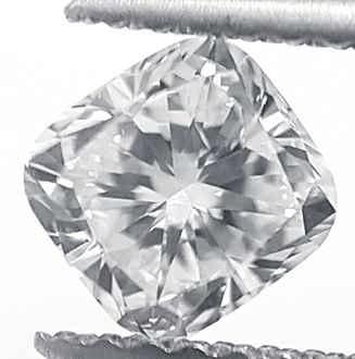 Foto 0.72 quilates, diamante de cojín con muy buen corte, color E, claridad VS2 y certificado por CGL de