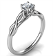 Picture of $500, 0.25 carat Leaf motif infinity Solitaire engagement ring