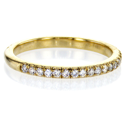 matching wedding band 36 round diamonds, 0.40 carat, 2.3 mm width.