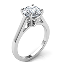 Picture of High Profile Cathedral engagement ring for all diamond shapes