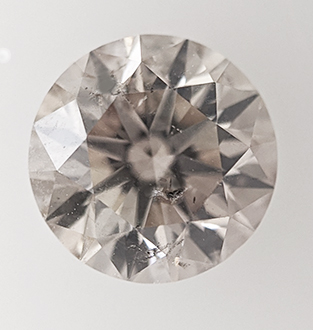 Picture of 0.85 Carats, Round natural Diamond with Very Good Cut, K Color, SI1 Clarity and Certified By CGL