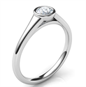Picture of Cheap bezel set sleek engagement ring