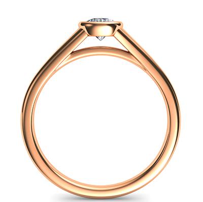 Rose Gold Cheap bezel set sleek engagement ring