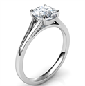 Picture of Split band Solitaire engagement ring for all diamond shapes-Stacy