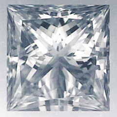 Picture of 1.01 Carats, Princess Diamond with Very Good Cut F VS2 Certified by CGL