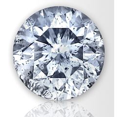 Picture of 0.80 Carats, Round Natural Diamond with Ideal Cut, F Color, I1 Clarity and Certified By IGL
