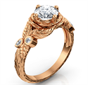 Picture of Rose Gold Leaf engagement ring