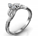 Picture of Leaf matching wedding ring for Joyce Leaf engagement ring