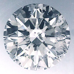 Picture of 2.00 carat Round natural diamond F SI2, Ideal- cut and certified by CGL