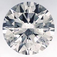 Picture of 3.59 round diamond F color, SI1 clarity,