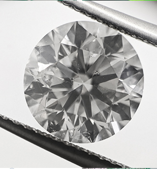Picture of 2.53 carat Round natural diamond F SI1, Ideal- cut and certified by CGL