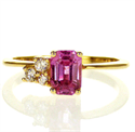 Picture of Pink Natural Sapphire and diamonds ring