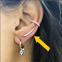 Foto Flecha de diamantes, 1 pendiente lateral de