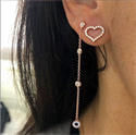 Picture of 13x12mm heart diamond earring-one side