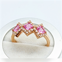 Picture of 1 Carat three pink Sapphires and 1/3 carat diamonds ring