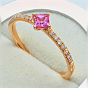 Foto 1/3 Carat pink Sapphires and diamonds ring de