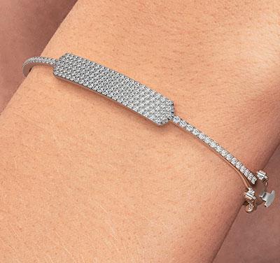 diamonds bangle, 1.40 carats