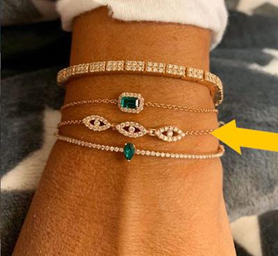 1/2 carat diamond bracelet, 5 mm wide