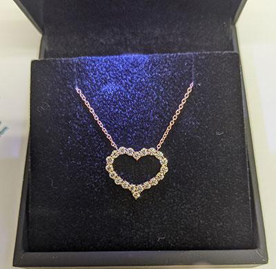 Diamonds Heart necklace
